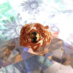 Slow Churn Copper Wire Sculpted Ring